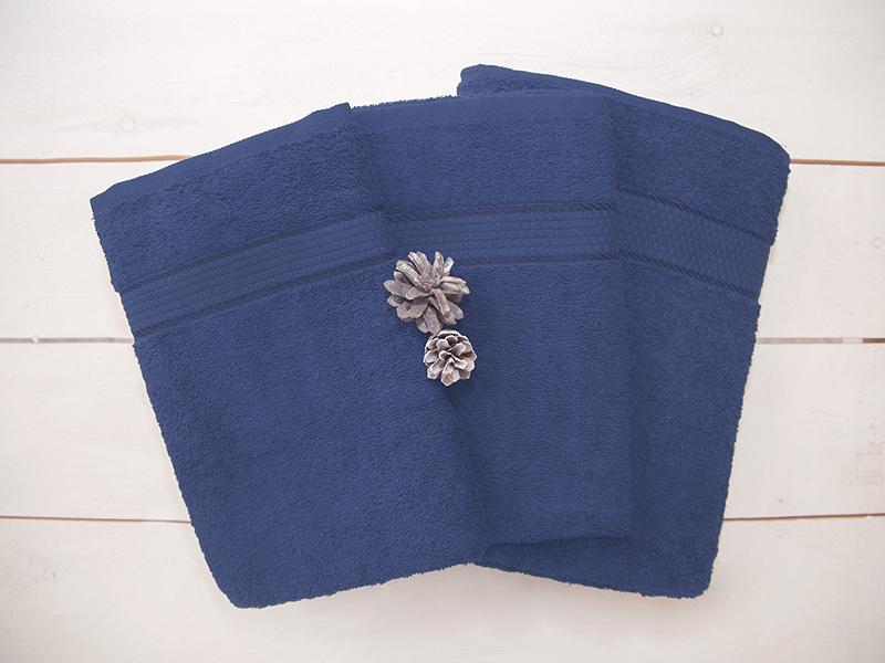 Комплект из 3-х махровых полотенец Синий, AISHA