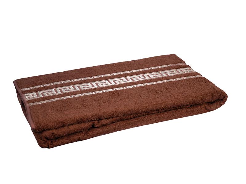 """Махровая простыня """"Оттоман коричневый"""" 200x220 бамбук, CORONET"""