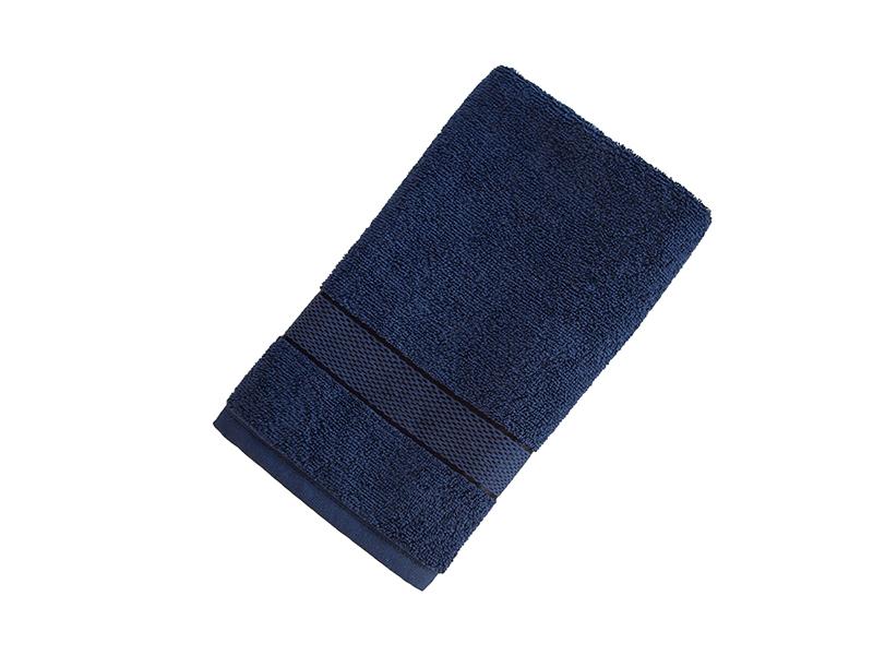 Махровое полотенце подарочное 50х90 темно-синее УНДИНА