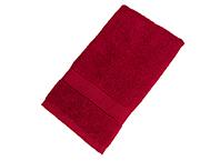 Махровое полотенце подарочное 50х90 бордовое УНДИНА
