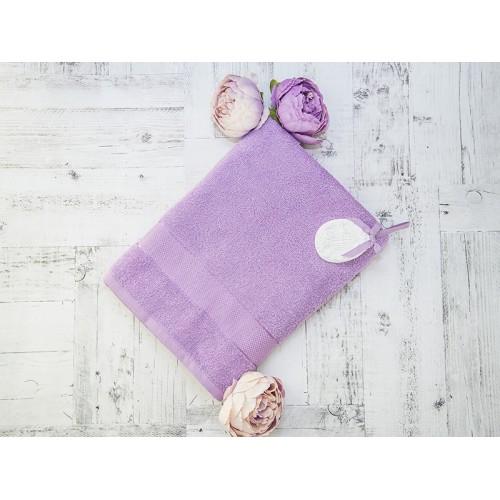 Купить Махровое полотенце подарочное 70х130 сиреневое УНДИНА по цене от 525 Р. с доставкой