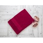 Купить Махровое полотенце подарочное 70х130 бордовое УНДИНА по цене от 525 Р. с доставкой
