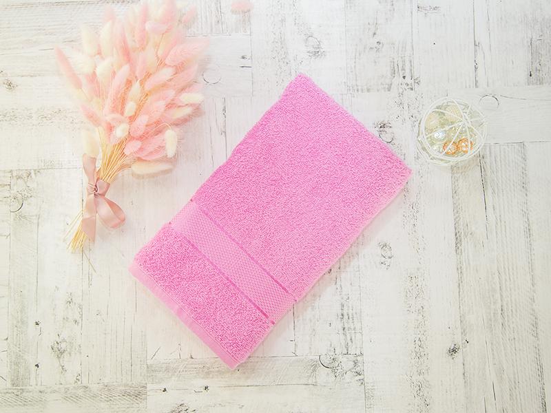 Махровое полотенце подарочное 50х90 розовое в коробке УНДИНА