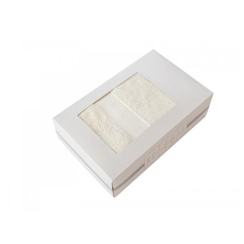 Купить Махровое полотенце подарочное 70х130 кремовое в коробке УНДИНА по цене от 629 Р. с доставкой