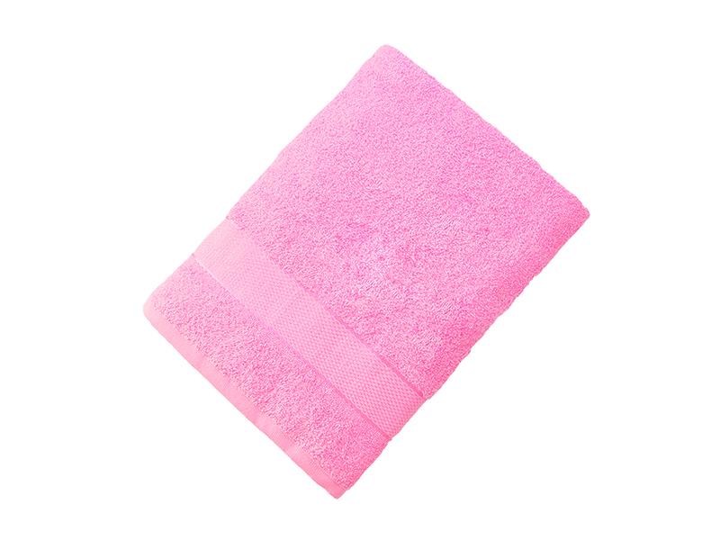 Махровое полотенце подарочное 70х130 розовое УНДИНА