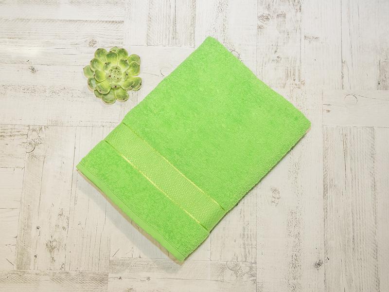 Махровое полотенце подарочное 70х130 зеленое УНДИНА