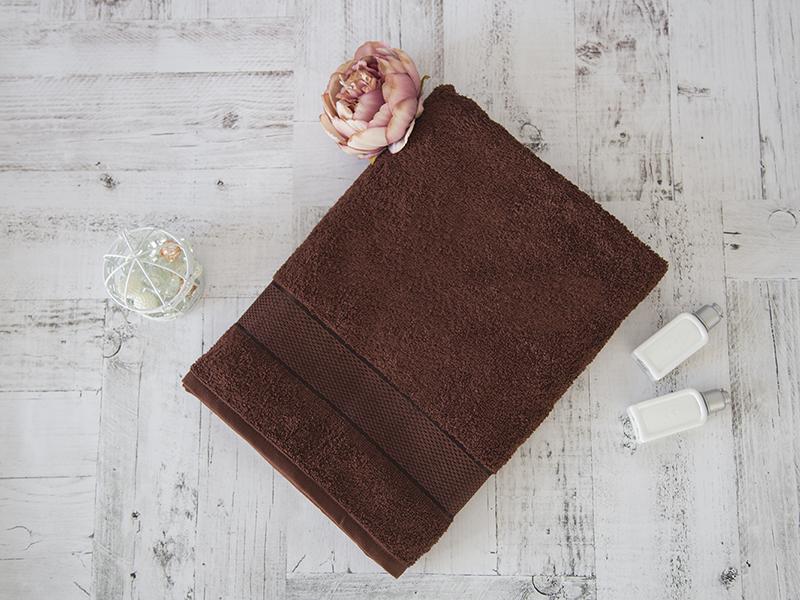 Махровое полотенце подарочное 70х130 шоколад УНДИНА