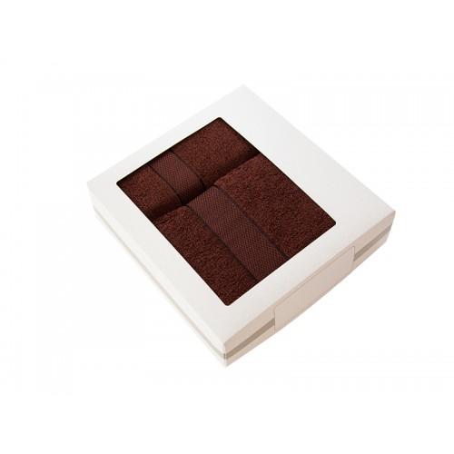 Купить Комплект из 2-х полотенец махровых в коробке шоколад УНДИНА по цене от 910 Р. с доставкой