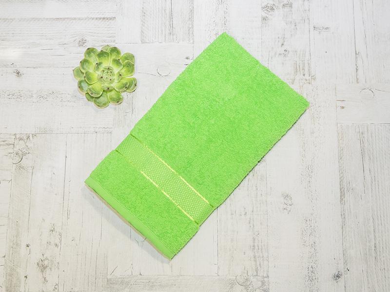 Махровое полотенце подарочное 50х90 зеленое в коробке УНДИНА