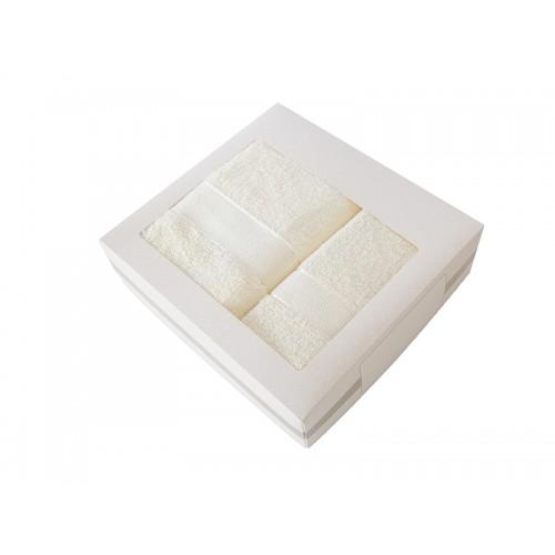 Купить Комплект из 2-х полотенец махровых в коробке кремовый УНДИНА по цене от 910 Р. с доставкой