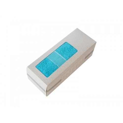 Купить Махровое полотенце подарочное 50х90 голубое в коробке УНДИНА по цене от 633 Р. с доставкой