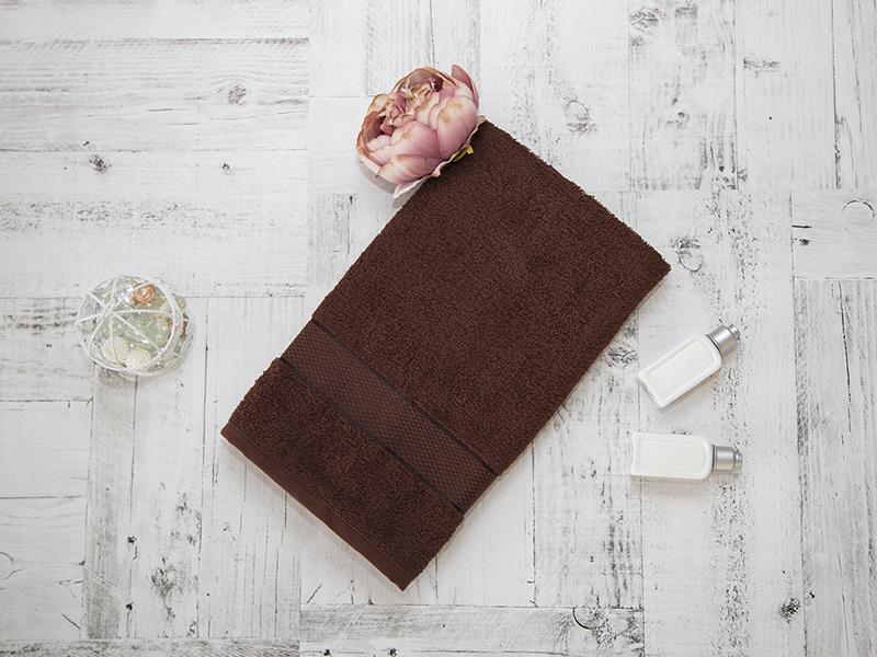 Махровое полотенце подарочное 50х90 шоколад в коробке УНДИНА
