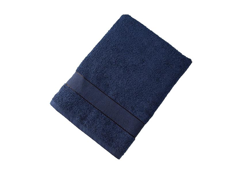 Махровое полотенце подарочное 70х130 темно-синее УНДИНА