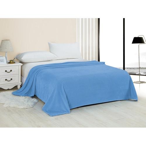 Купить Плед HOMELIKE голубой, велсофт по цене от 1 355 Р. с доставкой