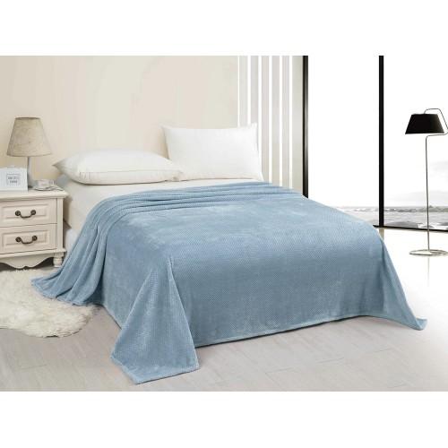 Купить Плед HOMELIKE светло-голубой, велсофт по цене от 1 355 Р. с доставкой