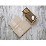 Купить Комплект из 2-х полотенец махровых бежевый РИШАР по цене от 1 559 Р. с доставкой