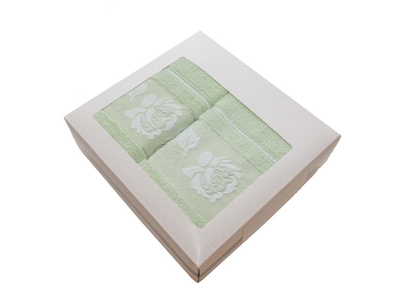 Комплект из 2-х полотенец махровых эвкалипт МИШЕЛЬ