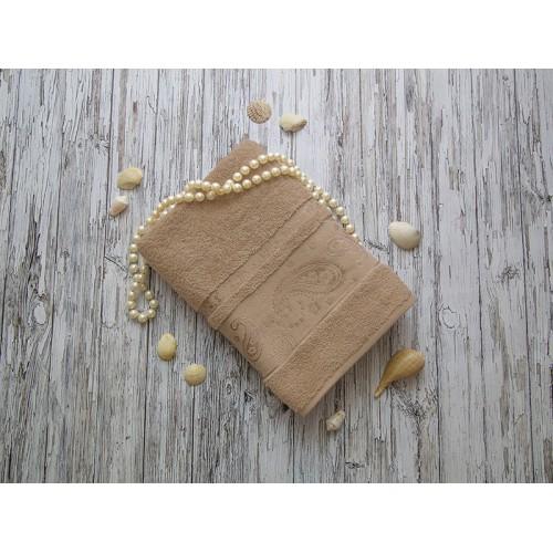 Купить Махровое полотенце подарочное 70х140 капучино ЛОРАН  по цене от 1 040 Р. с доставкой