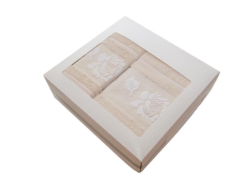 Комплект из 2-х полотенец махровых бежевый МИШЕЛЬ