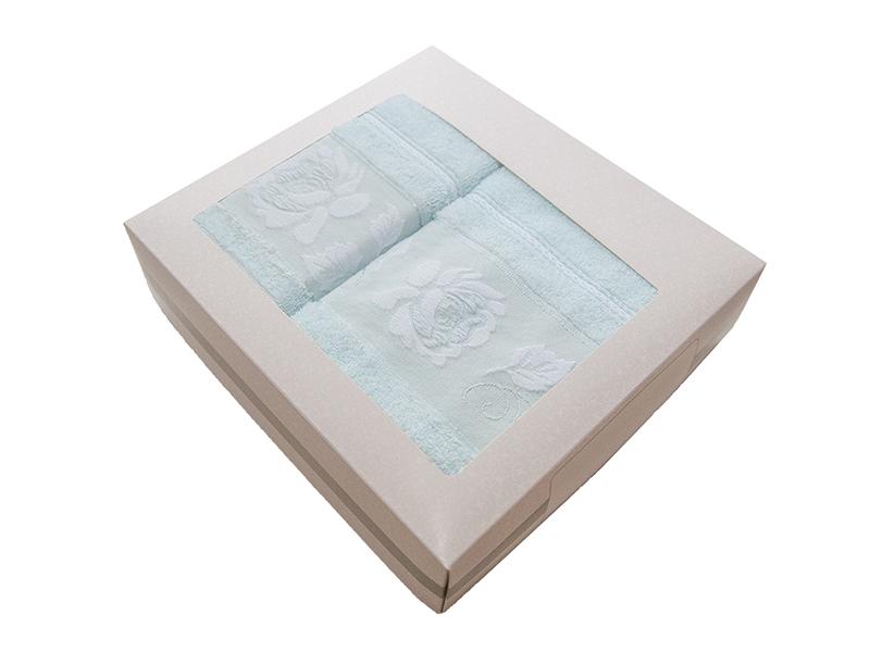 Комплект из 2-х полотенец махровых ментол МИШЕЛЬ