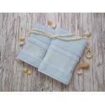 Купить Комплект из 2-х полотенец махровых голубой ЛОРАН  по цене от 1 559 Р. с доставкой