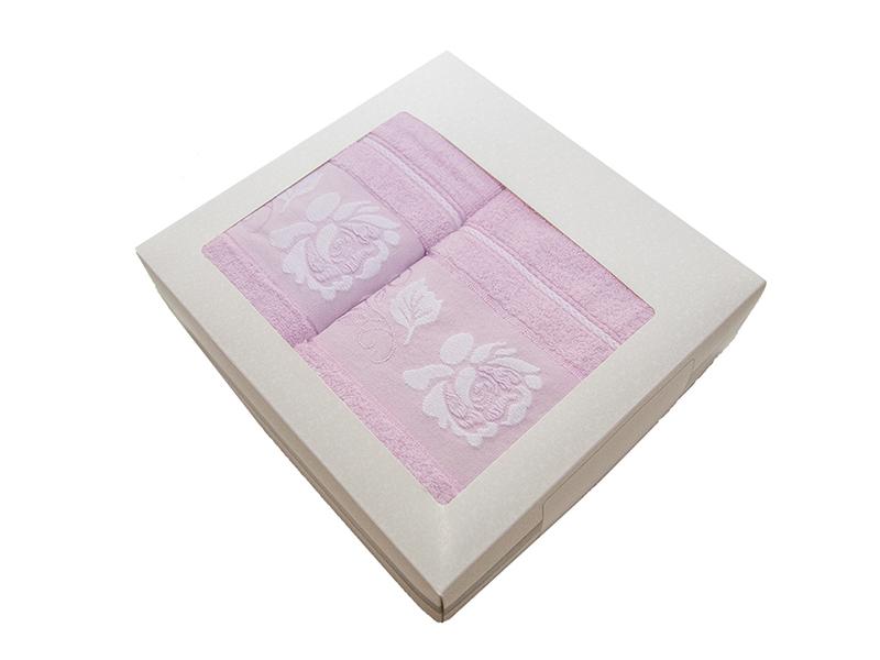 Комплект из 2-х полотенец махровых сиреневый МИШЕЛЬ