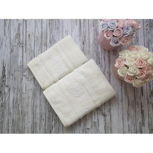 Купить Комплект из 2-х полотенец махровых молочный МИШЕЛЬ по цене от 1 559 Р. с доставкой