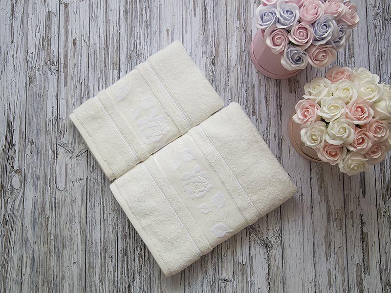 Комплект из 2-х полотенец махровых молочный МИШЕЛЬ