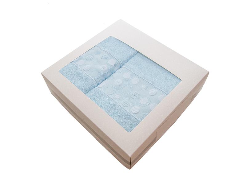 Комплект из 2-х полотенец махровых голубой РИШАР