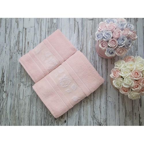 Купить Комплект из 2-х полотенец махровых розовый МИШЕЛЬ по цене от 1 559 Р. с доставкой
