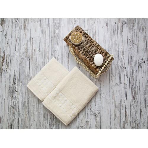 Купить Комплект из 2-х полотенец махровых кремовый РИШАР по цене от 1 559 Р. с доставкой