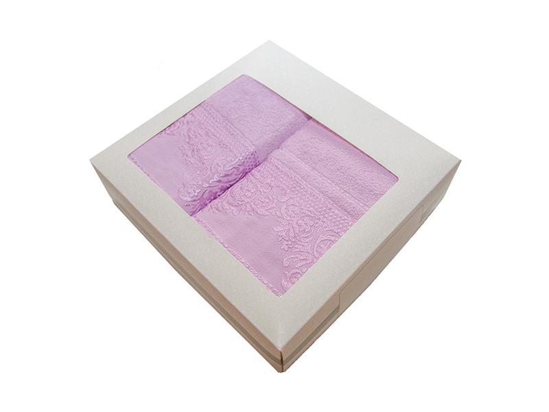 Комплект из 2-х полотенец махровых сиреневый ФРАНСУА