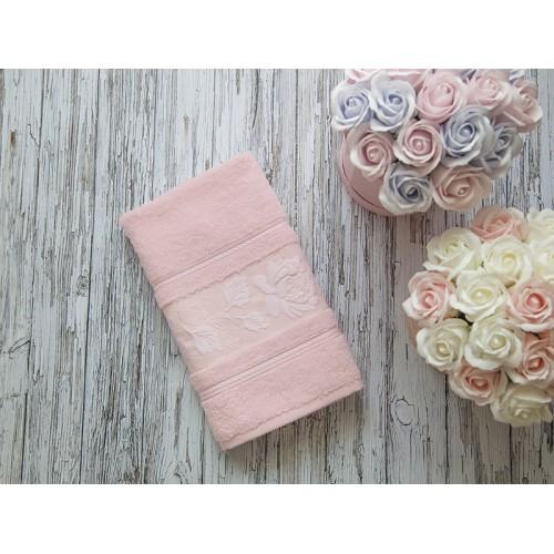 Купить Махровое полотенце подарочное 50х90 розовое МИШЕЛЬ по цене от 520 Р. с доставкой