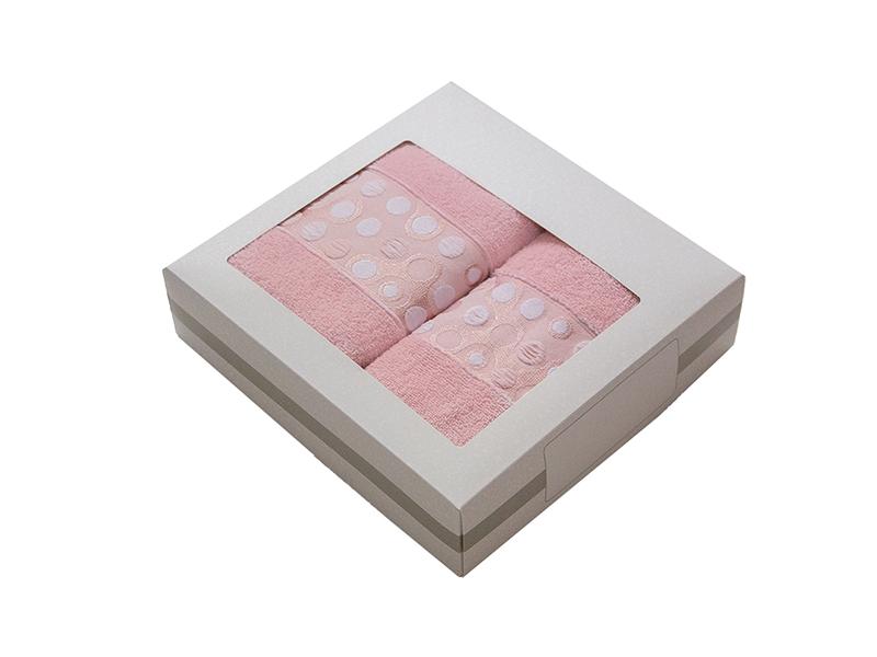 Комплект из 2-х полотенец махровых пыльная роза РИШАР