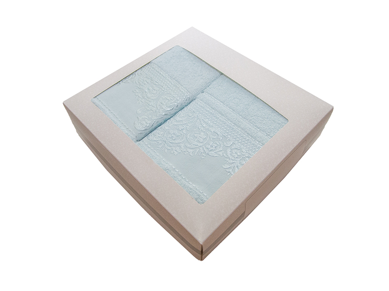 Комплект из 2-х полотенец махровых ментол ФРАНСУА